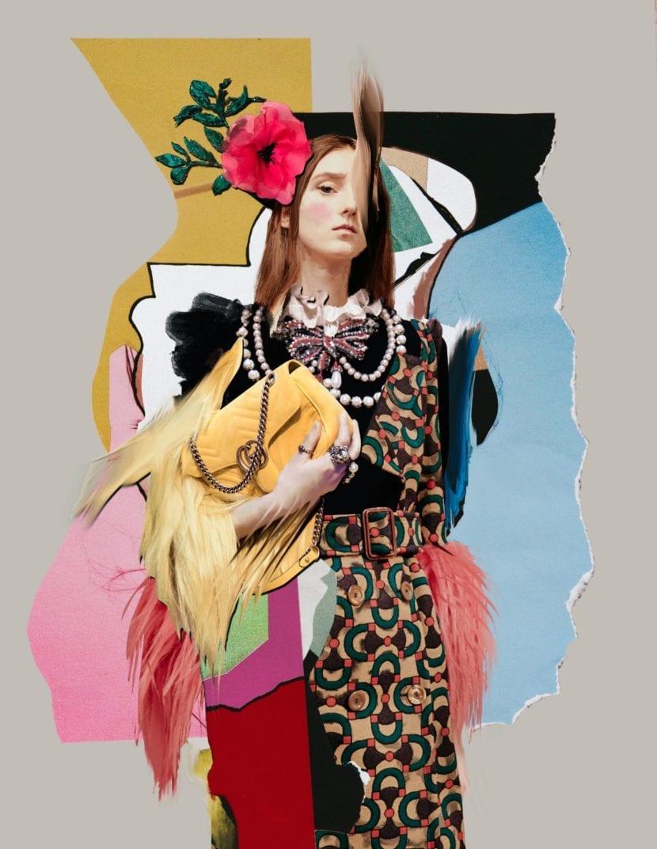 Collage para Harpers Bazaar de Ernesto Artillo