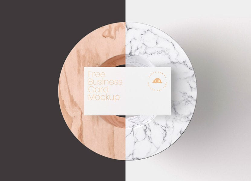 Mockup de tarjeta de negocios sobre objeto decorativo