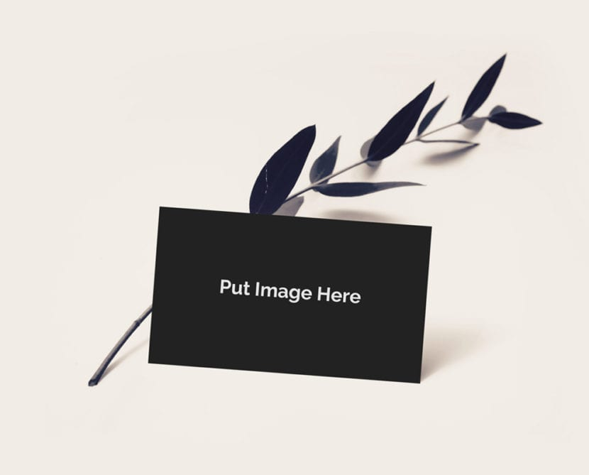 Mockup de tarjeta personal con rama