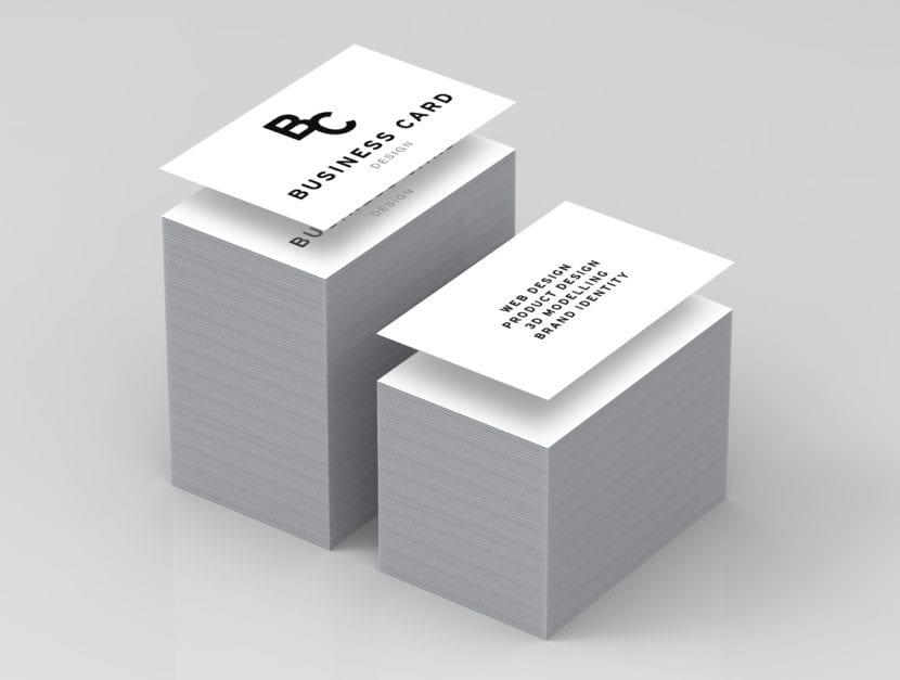 Mockup de tarjetas con bordes editables