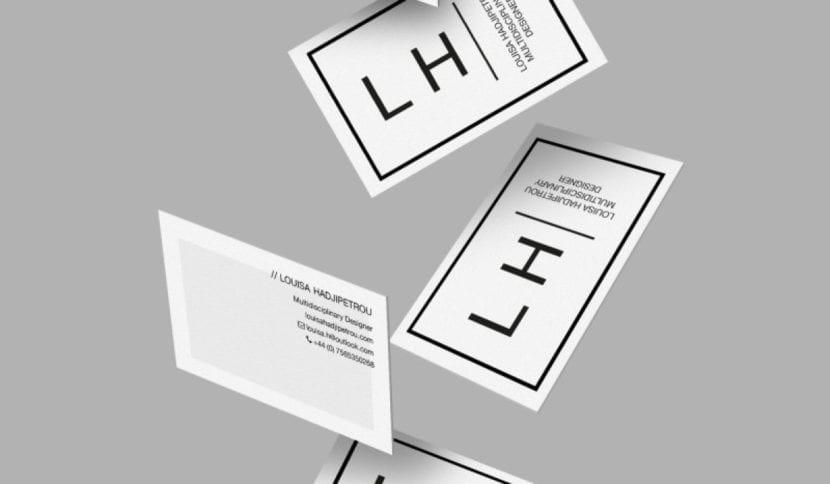 Tarjetas de negocios minimalistas