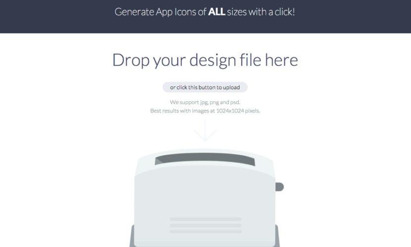 Pantalla de Make App Icon