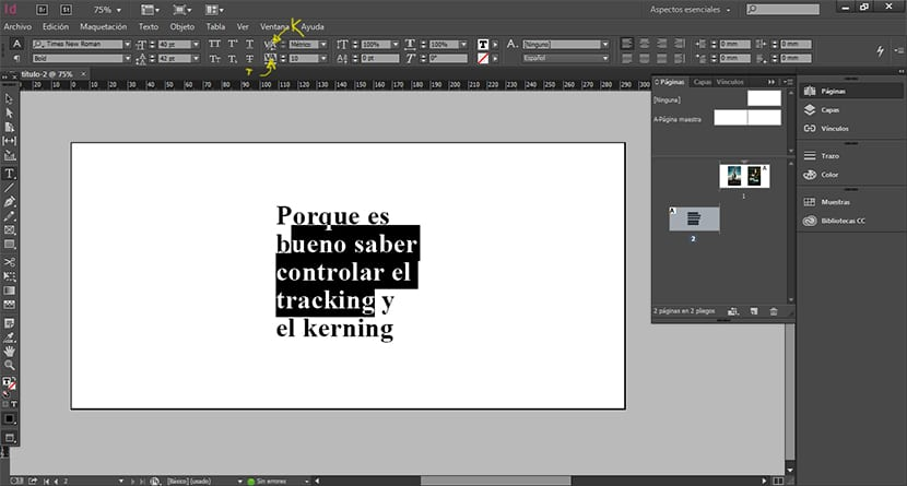 Aprende a cambiar el tracking y el kerning en Photoshop