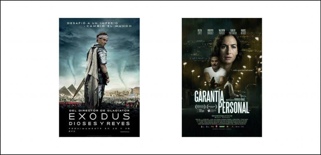 Los carteles de cine utilizan modificaciones en la tipografía de tracking y kerning