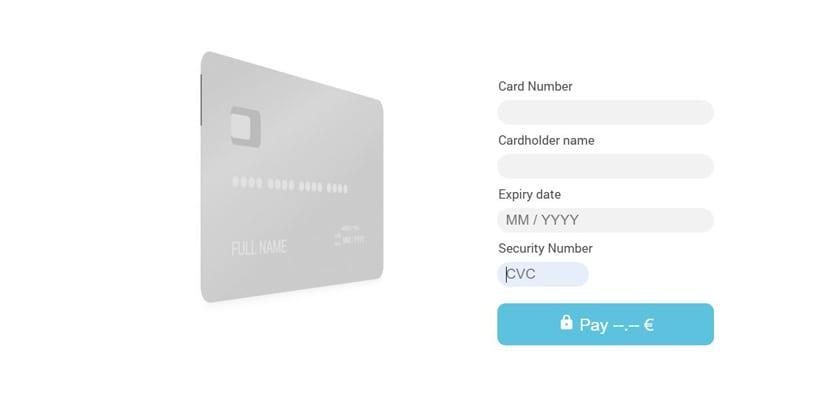 Checkout tarjeta pago