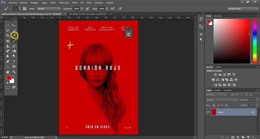Photoshop nos permite coger muestras de color