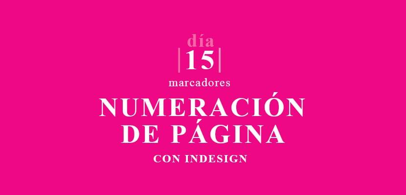 Crear numeración de página con indesign