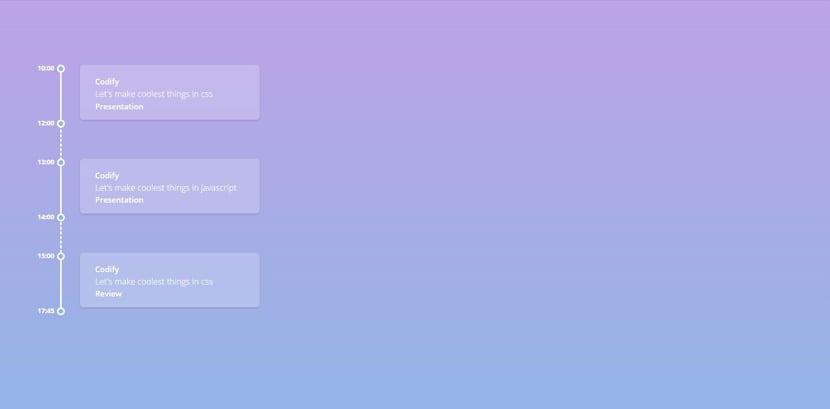 29 líneas de tiempo en CSS con un poco de JavaScript de gran