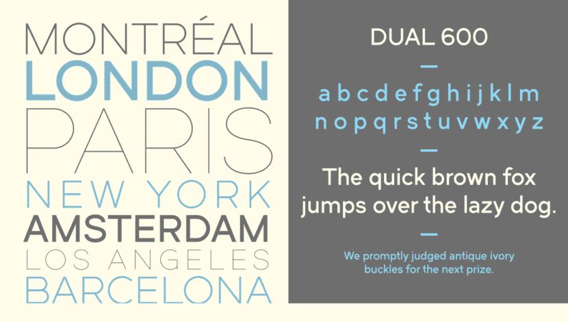 Dual Font