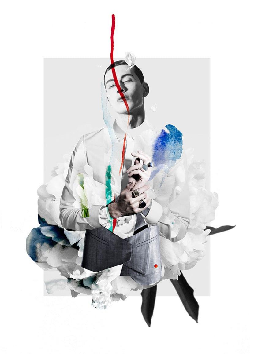 Collage de moda por Ernesto Artillo