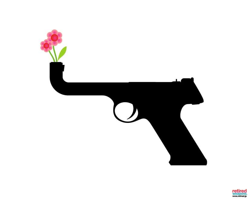 Flores contra la guerra