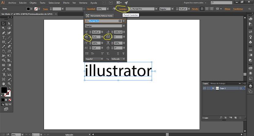 Si trabajas textos en illustrator debes conocer como modificar la tipografía