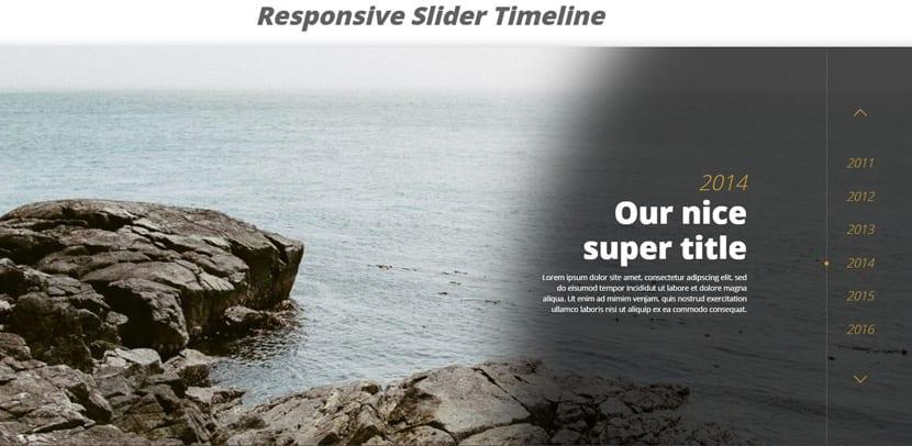 Slider timeline responsive