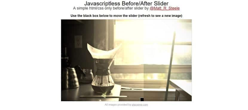 Slider comparativo sin JS