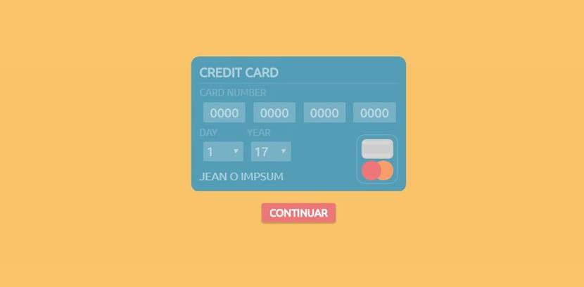 Tarjeta crédito puro CSS