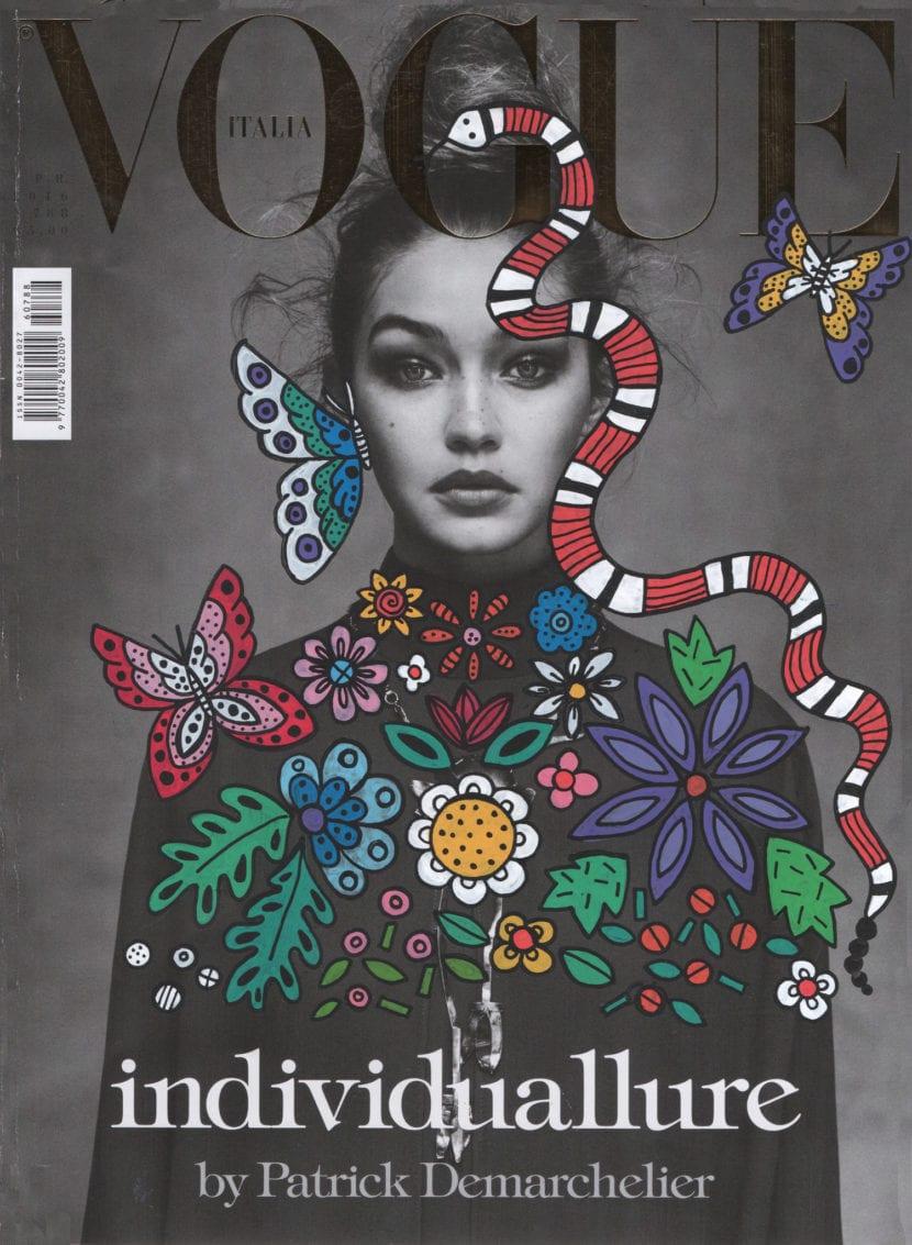 Portada para Vogue Italia de Anna Strumpf