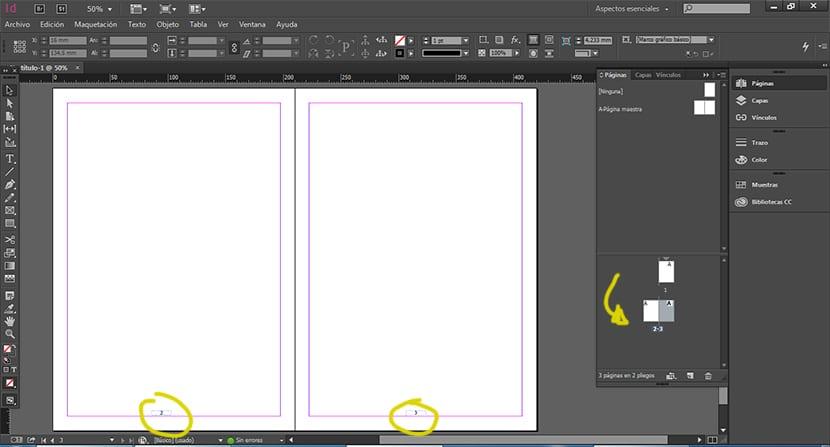 Aprende a numerar páginas con Indesign