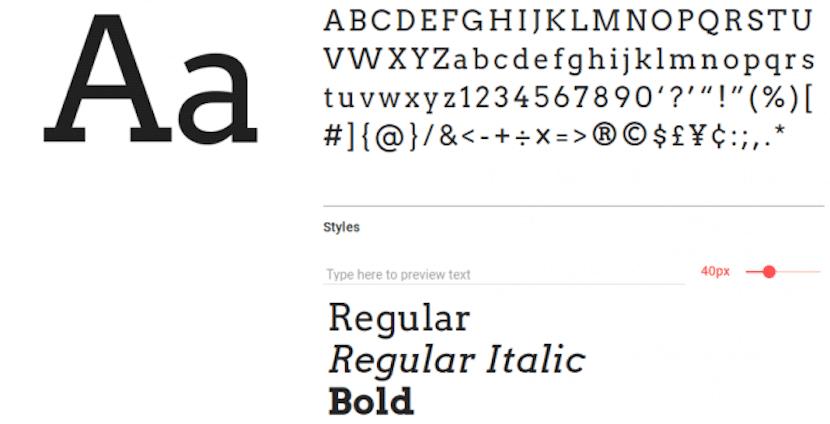 Arvo tipografías