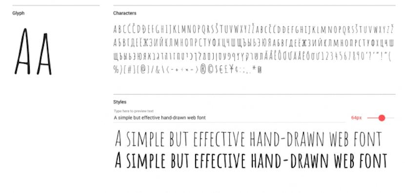 Amatic tipografías