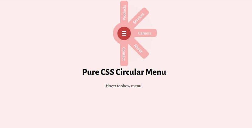 Menú circular
