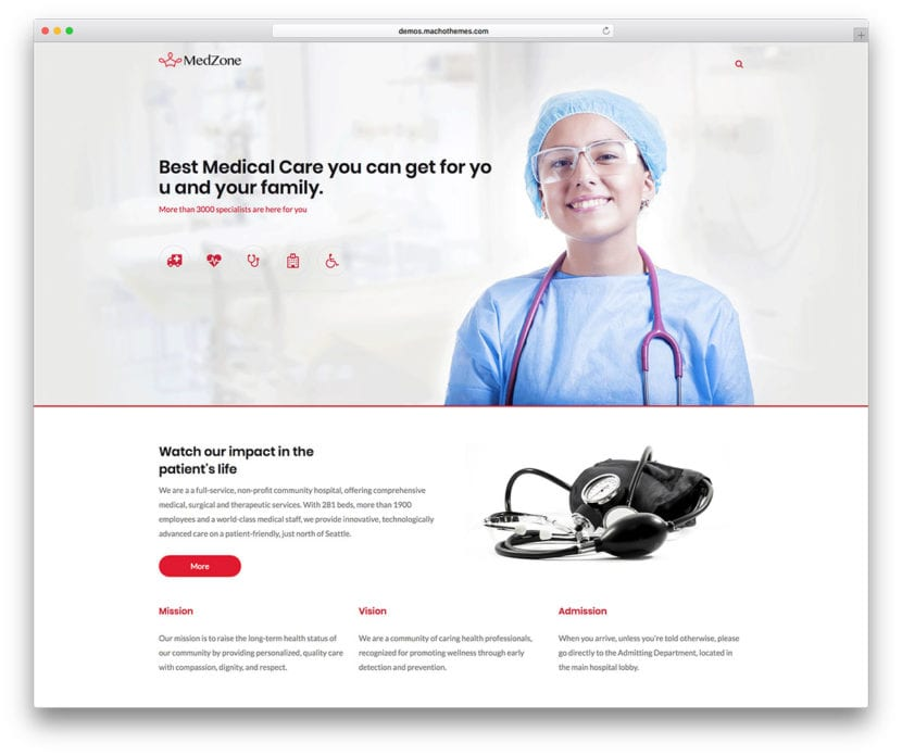 Tema WordPress Medzone