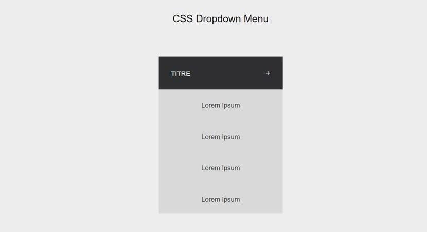 Menú CSS