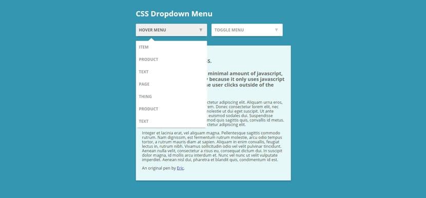 Menú dropdown CSS
