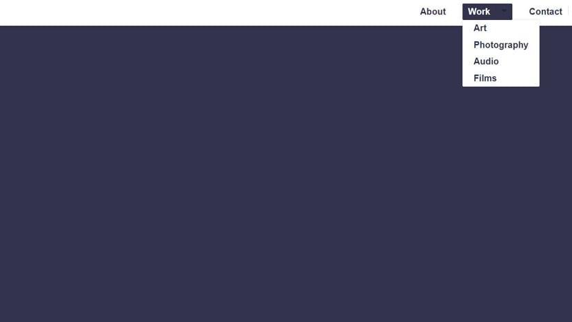 Menú dropdown puro CSS