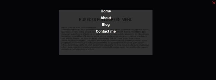 Puro CSS Fullscreen