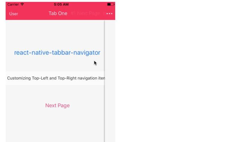 React native tabbar