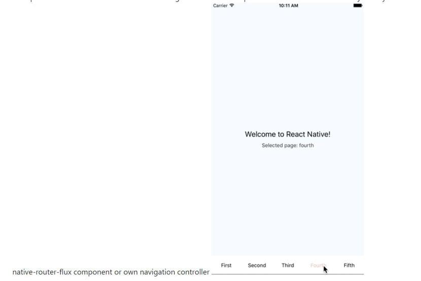 React Native Tabs