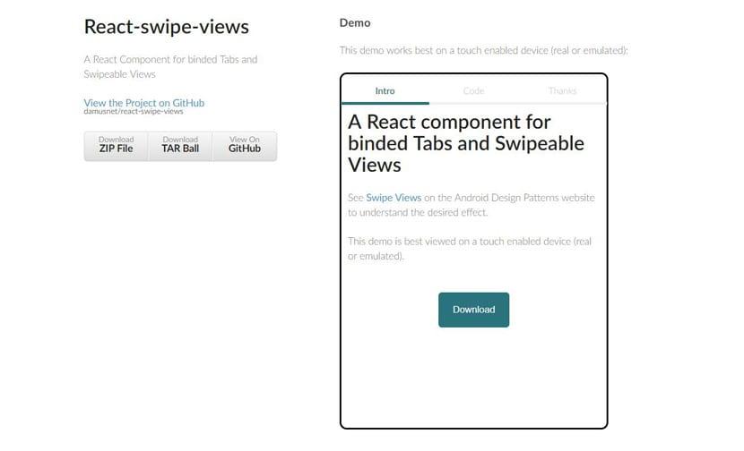 React swipe tabs