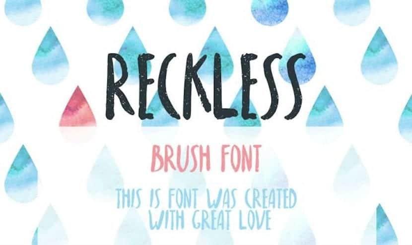 reckless tipografías