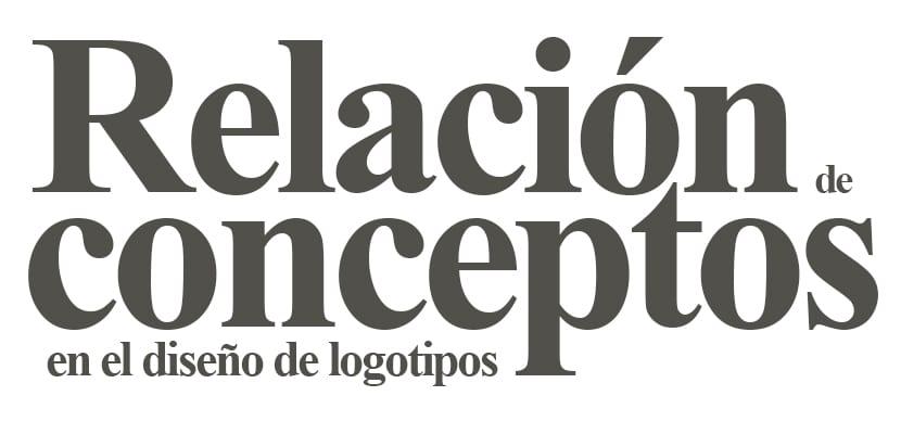 Relación de conceptos a la hora de diseñar un logotipo
