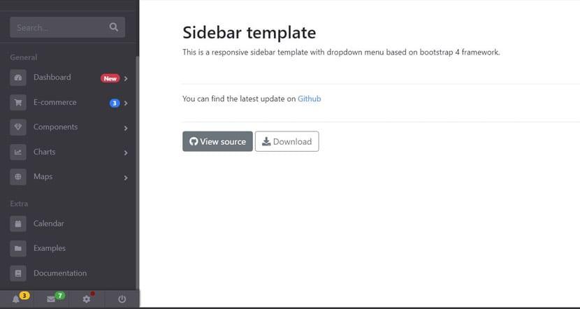 sidebar template