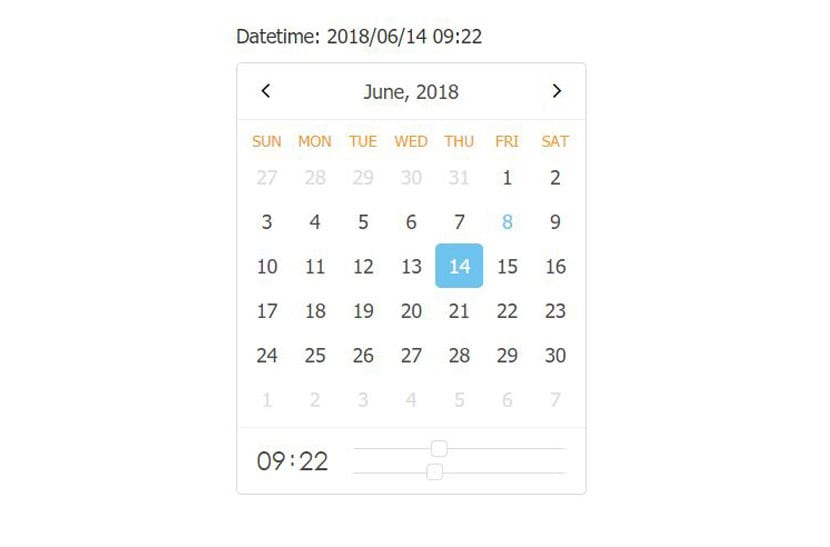 React datetime