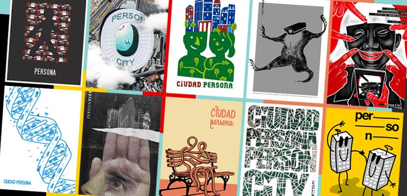 carteles madrid grafica ciudad persona