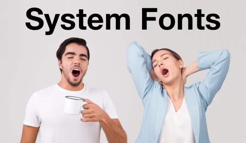 Fonts sistema