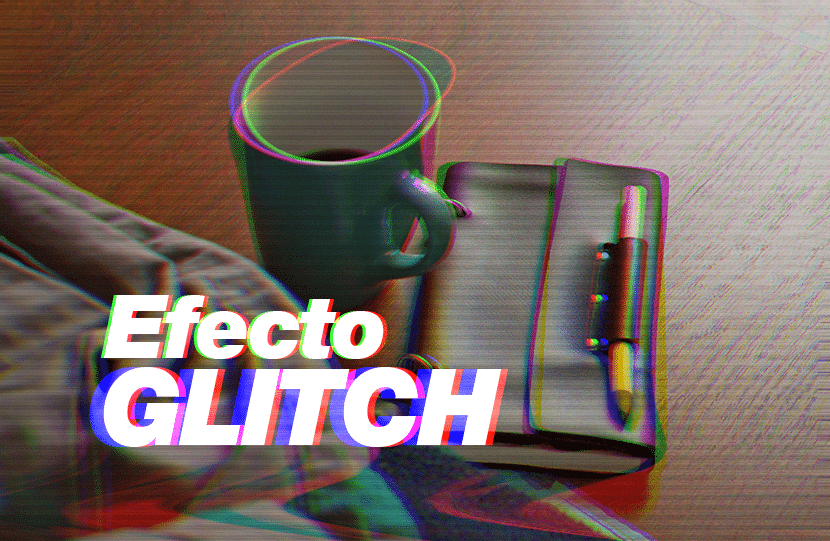 efecto glitch tutorial tendencia color canales photoshop