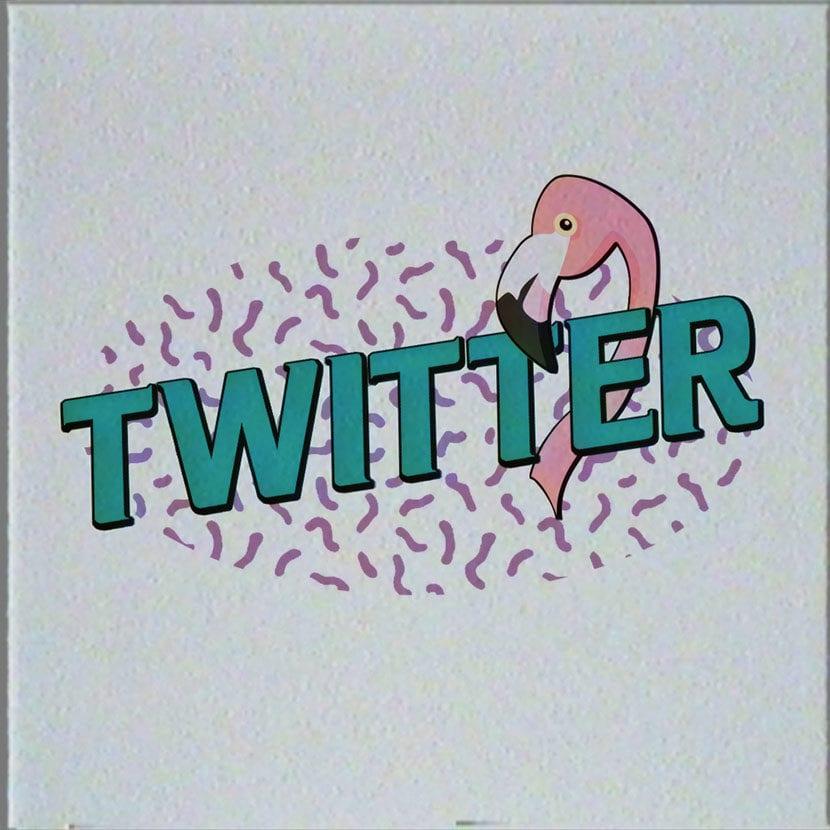 logos retro 80 twitter
