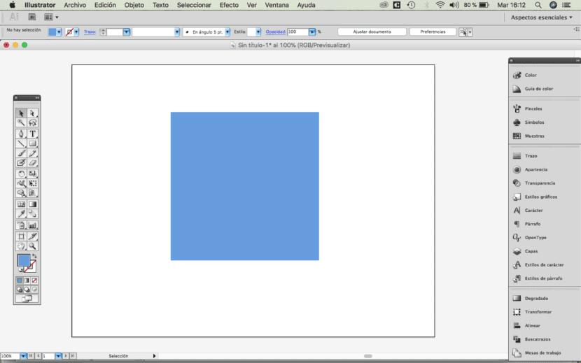 Illustrator, crear un cuadrado