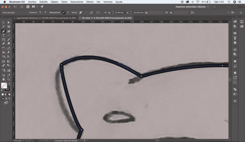 Punto de ancla Illustrator