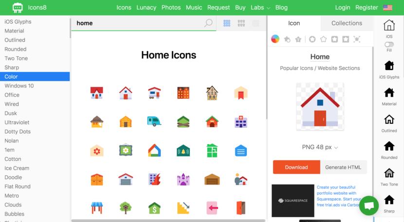 Icon8 recursos