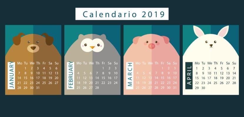 Calendario animales