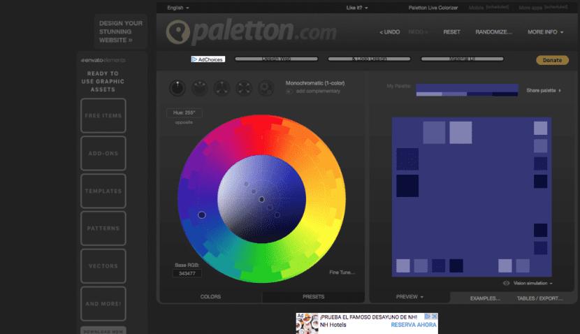 Palentton colores