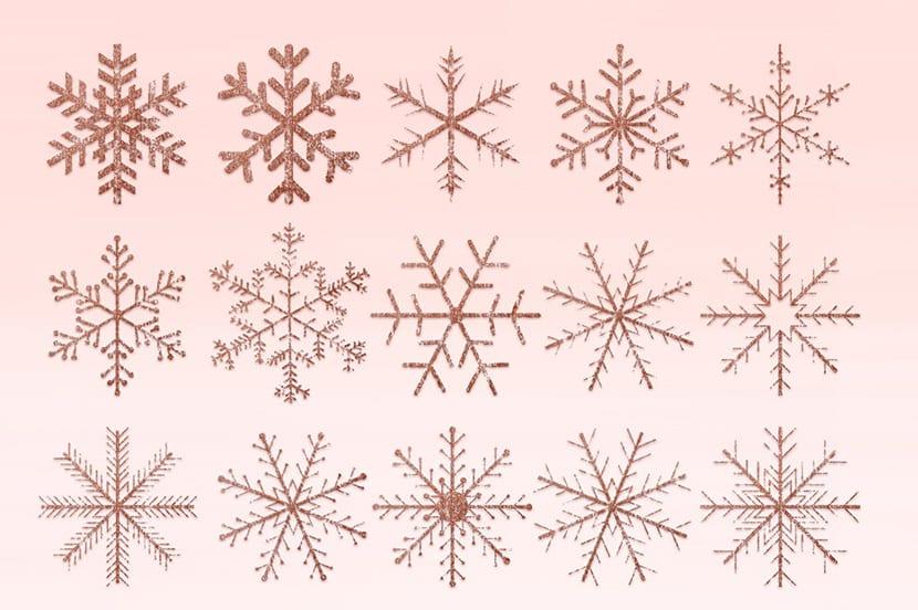 Copos de nieve Grunge
