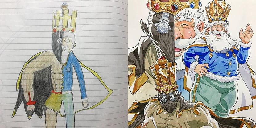 Dibujos de hijo y padre