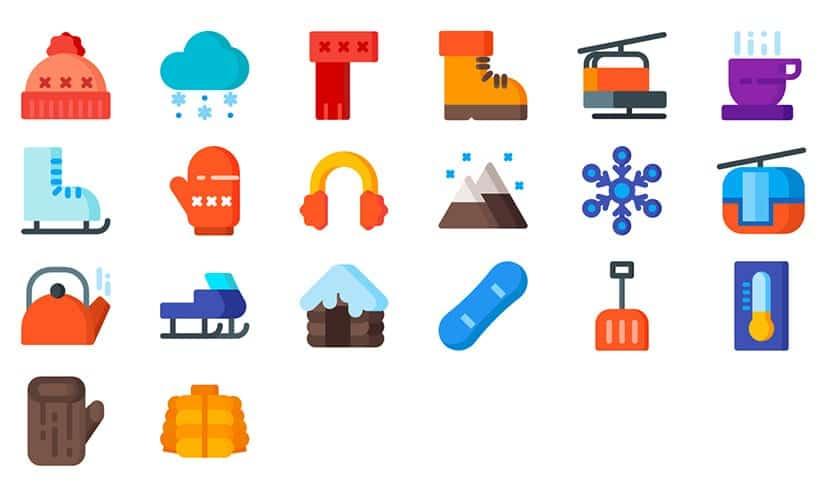Navidad iconos de Adobe