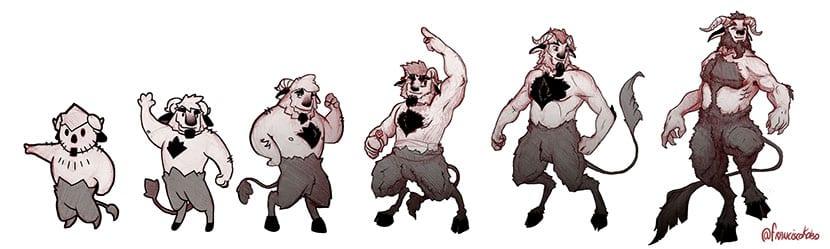 Las seis categorías en el diseño de personajes