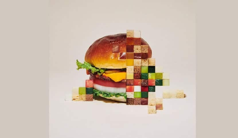 Hamburguesa pixeles